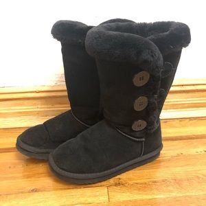 UGG Bailey button black tall boots